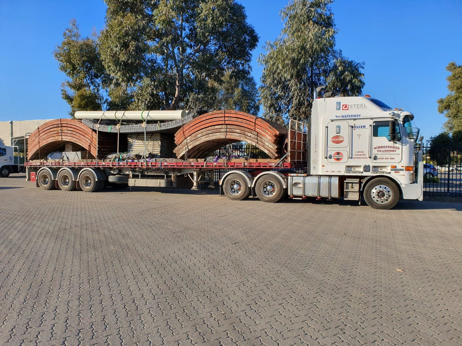 Concrete Moulds Going to Terowie SA for Panther Concrete Tanks